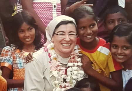 Ringraziamento di Suor Lucia alla comunità di San Romano